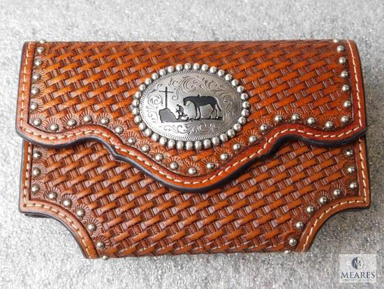 Nocona Leather Cell Phone or Similar Case with Nite Ize Clip