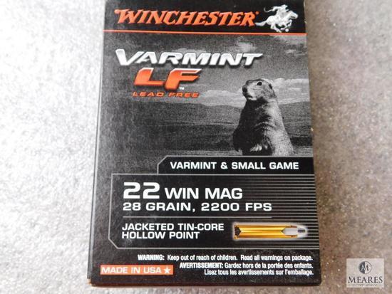250 Rounds Winchester Varmint LF .22 WIN Mag Ammunition 28 Grain Bullets