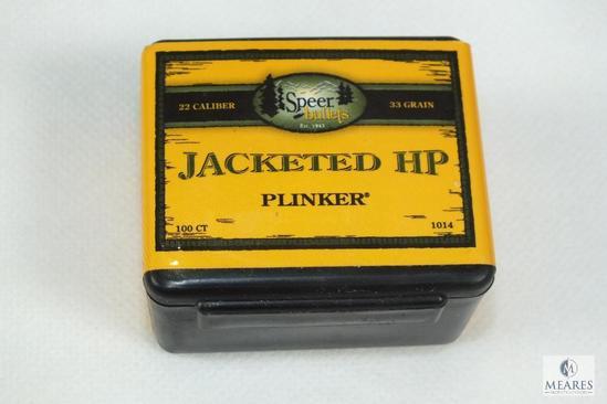 100 Count Speer 22 caliber bullets 33 grain for hornet