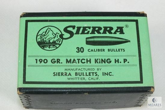 100 COunt SIerra 30 caliber bullets 190 grain matchking hollow point