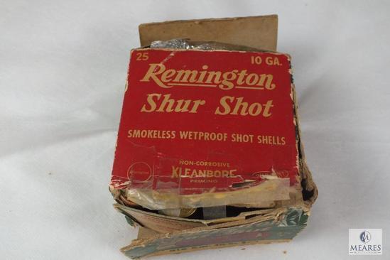Partial Box vintage Remington 10 Gauge shotgun shells