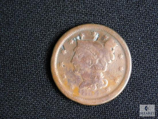 1854 US One Cent