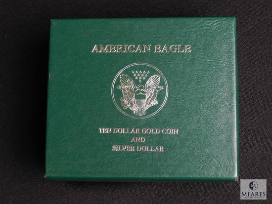 1996 American Eagle Ten Dollar Gold Coin & Silver Dollar Set