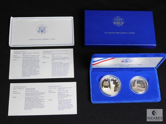 1886-1986 United States Liberty Silver and Half Dollar Set