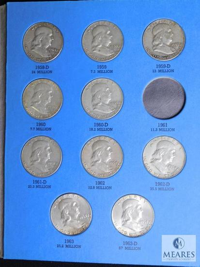 Benjamin Franklin Half Dollar Collection 1948 - 1963 Set