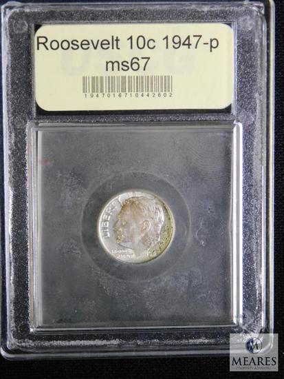 1947 Roosevelt Dime USCG MS67