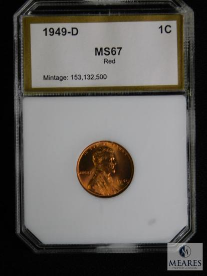 1949-D Wheat Cent PCI MS 67 RD
