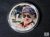 Nascar Superstars Colorized 2001 U.S. Silver Eagle Dollar