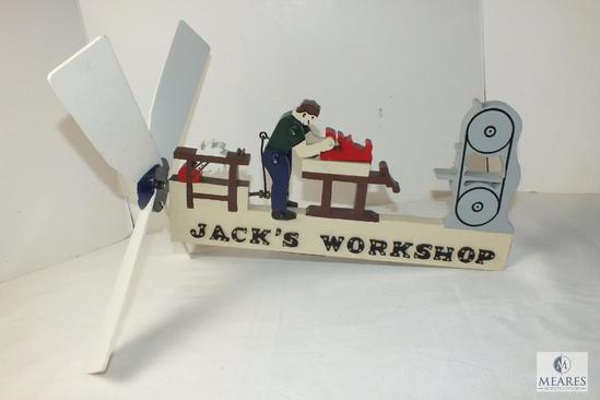 Hand Made Wind spinner Wood Workshop with name Jack
