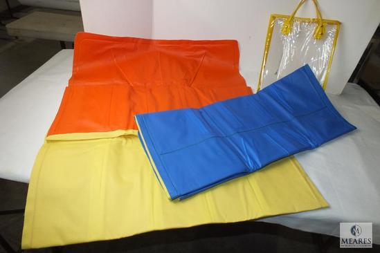 Lot of 2 Vintage New canvas Inflatable floats / mattress
