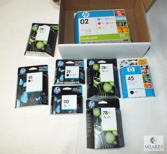 Lot o HP Hewlett Packard Printer Ink Cartridges