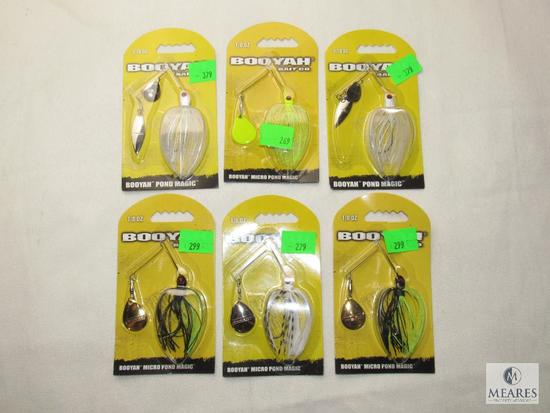 Lot 6 New Booyah Spinner Blade Fishing Lures