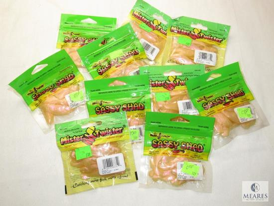 Lot 10 packs New Assorted Fishing Sassy Shad Lures