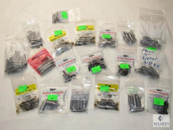 Large Lot New Assorted Lead Fishing Weights