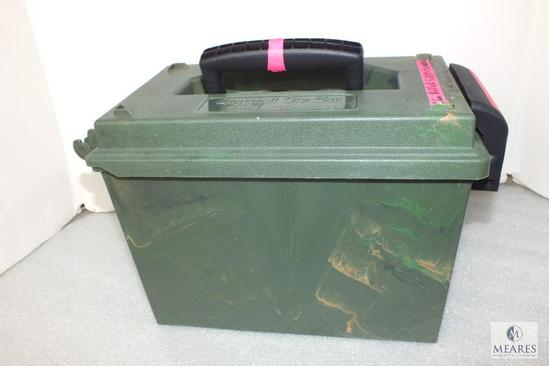 100 Rounds 12 Gauge Slugs Shotgun Shells in Case-Gard Dry Camo Dry Box
