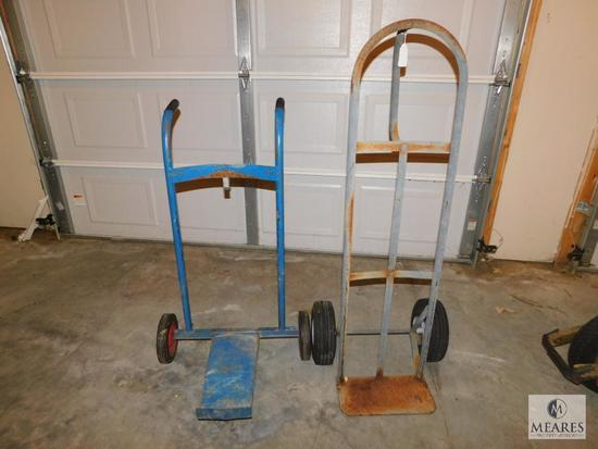 Lot 2 Hand Carts Dollies 1 for Barrel