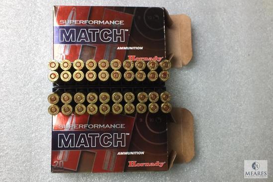 40 Rounds Hornady 5.56 NATO Superformance Match Ammo 75 Grain BTHP Ammunition