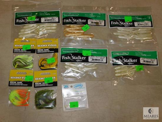Assortment of fishing tackle