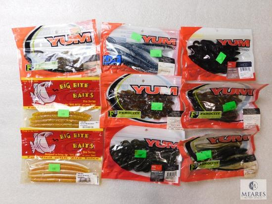 8 packs New assorted fishing worms