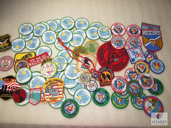 Large Lot of Various Patches & BSA Diamond Jubilee 1985 Collection w/ Bolo, Charm, +