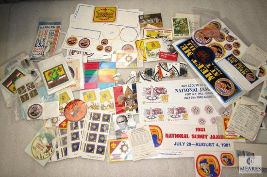 Large Lot Various Boy Scouts, Jamboree, & Convention Stickers Cards +