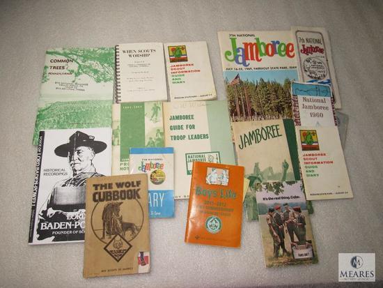 Large Lot Vintage Cub & Boy Scout Booklets, Maps, Jamboree Information, Newspaper +
