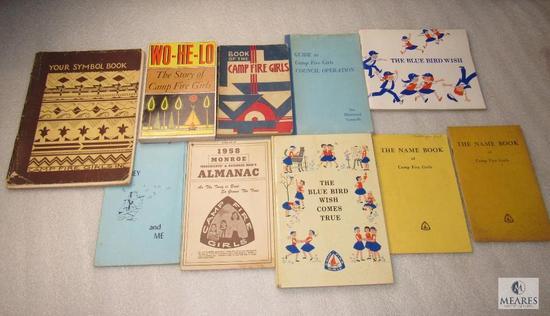 Vintage Lot Camp Fire & Blue Bird Girls Books