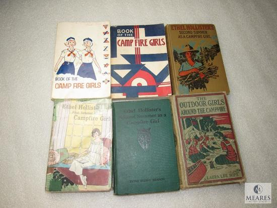 Lot 6 Vintage Camp Fire Girls Books & Guides