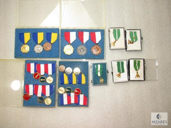 Lot 19 Cub & Boy Scout Award Ribbon Medals Pinewood Derby, Contest, Training +