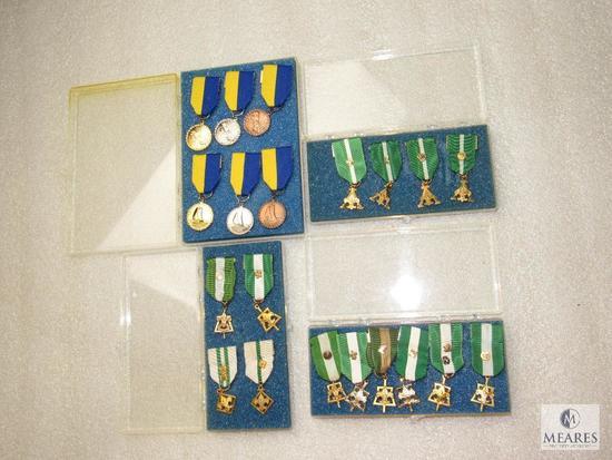 Lot of 20 Vintage Cub & Boy Scout Award Ribbon Medals Sailing & Regatta & Leader