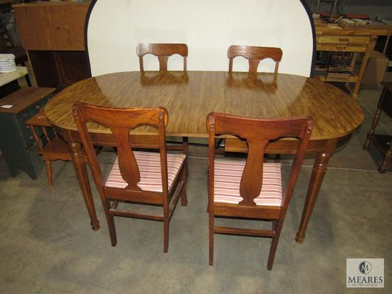 Dining Room Table with Laminate Wood with 4 Wooden Chairs