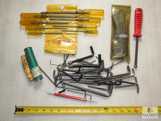 Lot Various Allen Wrenches, Set Bondhus Screwdrivers & New Jacobs chuck Arbor