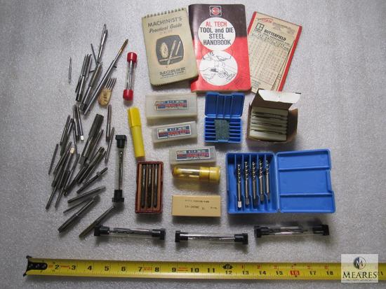 Lot various Hand Taps, Drill Bits, & Morse Machinist's Guide