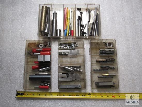 Lot various End Mills, Bits, Fasteners, Taps, & other Machinist tools