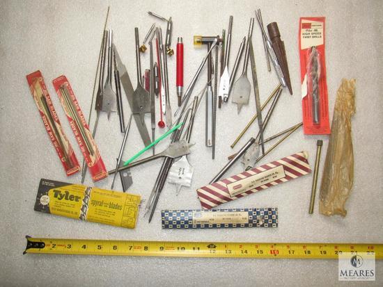 Lot various Spade Bits, Reamer, Drill Bits, & Jig Saw Blades