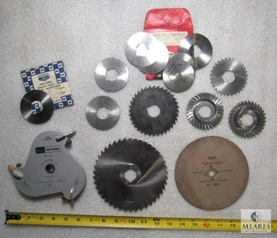 Lot various Screw Slotter Saw Blades Brown & Sharpe, Cleveland, Sears +
