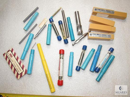 Lot various End Mills Most New Some Double Ended