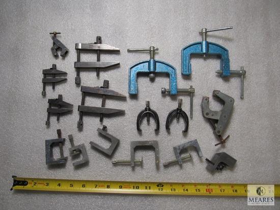 Lot 16 various precision clamps & Starrett Ruler Clamp
