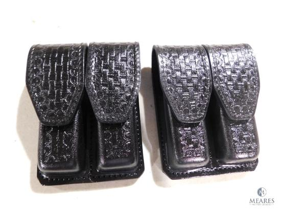2 new Hunter leather double mag pouches fits Beretta 92,96 and similar mags