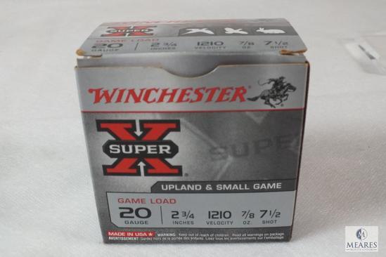 "25 Winchester 20 Gauge Shotgun Shells 2-3/4"" 7/8 oz 7-1/2 Shot"