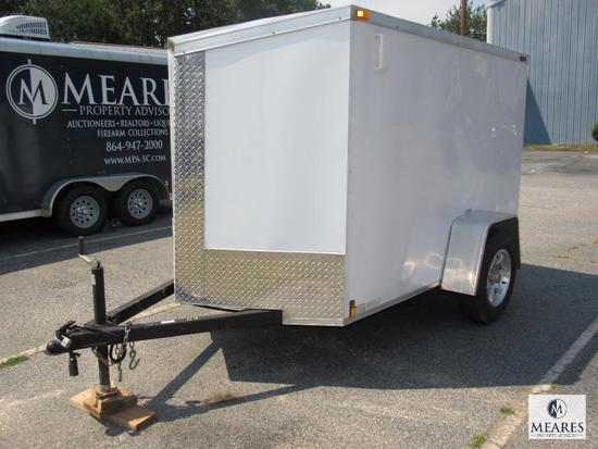 5' x 8' Enclosed Motorcycle / Cargo Trailer Mag Wheels & Full Spare