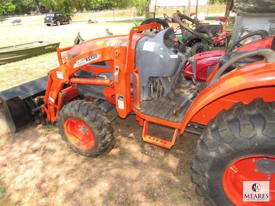 Kioti CK25 Front Loader Tractor with KL130 Scoop Bucket - 10% BP