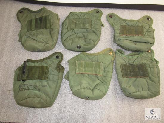 Lot 6 US Army Surplus Canteen 1 Qt. Covers