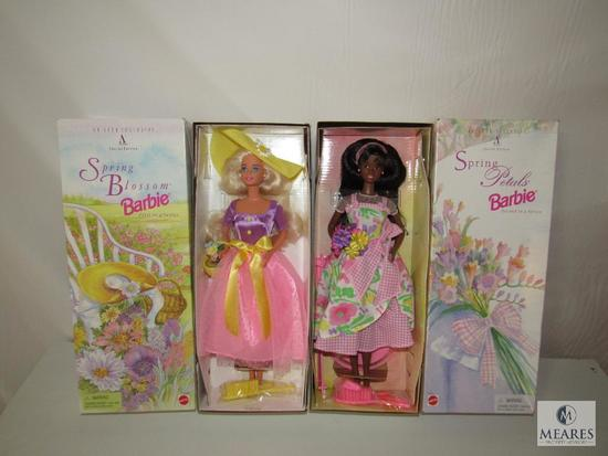 Lot 2 Barbie Dolls Spring Blossom 1995 First & Second Edition New in boxes