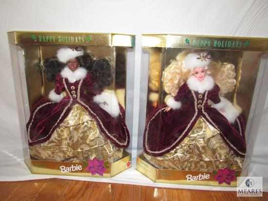 Lot 2 Happy Holiday Barbies Special Edition 1996 Hallmark New in boxes