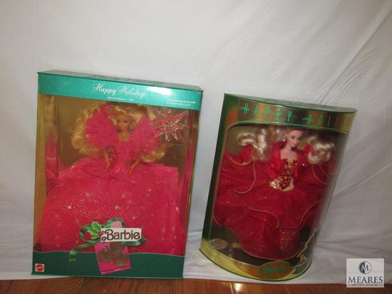 Lot 2 Happy Holiday Barbies 1990 & 1993 Special Edition New in boxes