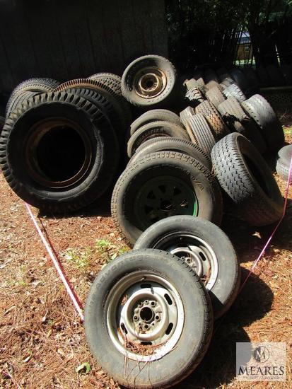 Large lot Tires - Some Tractor or Large Truck and some with wheels