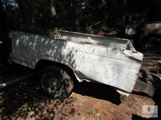 Old Ford Truck Bed turned Trailer