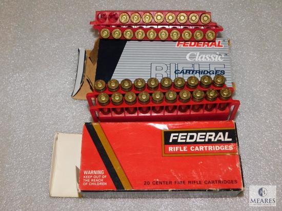 20 rounds Federal 243 ammo, 100 grain 5 rounds 300 savage ammo and brass
