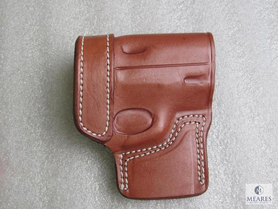 New leather concealment holster fits CZ75 and similar like Browning Hi-Power